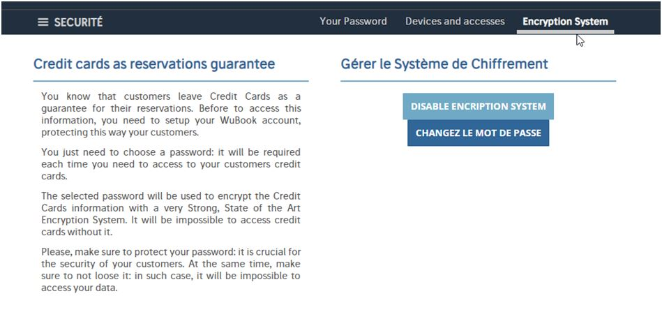 Disabled encription system